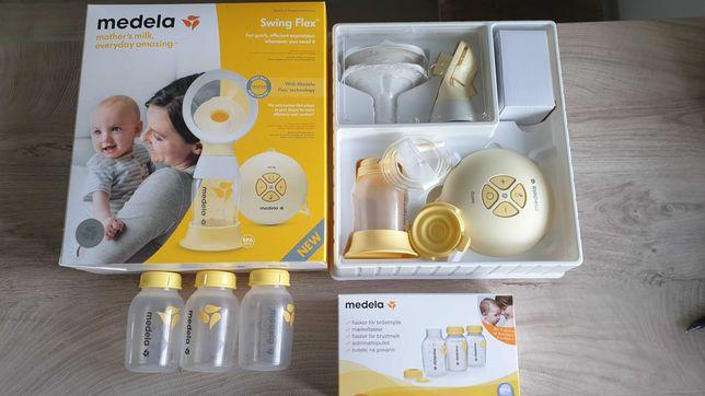 Medela Swing Flex + butelki GWARANCJA 22 MSCE Laktator elektryczny