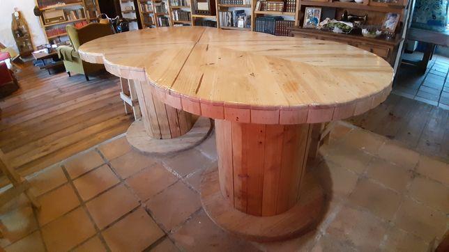 Mesa bancada de cozinha rustica madeira maciça.
