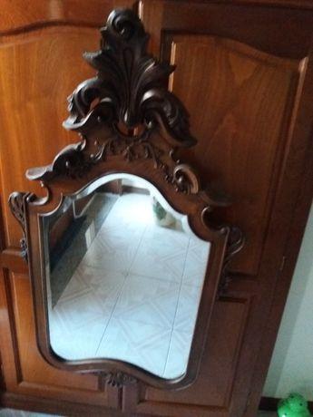 Espelho Antigo Madeira.