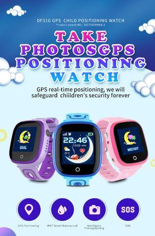 Детские смарт-часы DF31G c GPS и камерой! Умные часы круче, чем V7K!