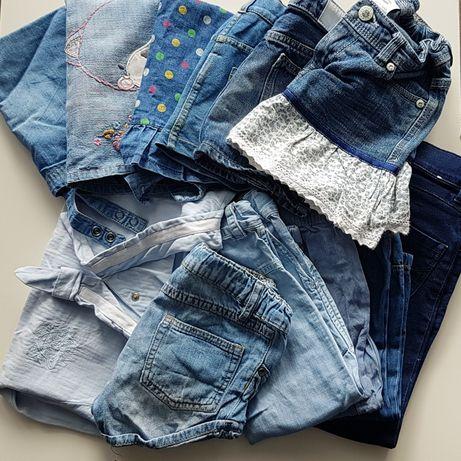 Dżinsowe ubranka dla dziewczynki rozm. 86