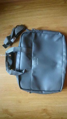 Etui, torba szara na laptop, Calvin Klein