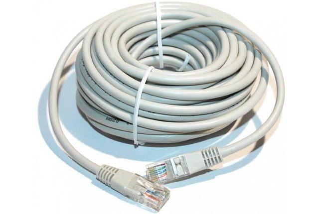 Сетевой интернет кабель патч-корд литой, UTP, RJ45, Cat.5e, 5m, серый