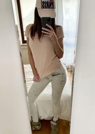 Szare jeansy Guess, rurki marmurki 'jegging', skinny jeans