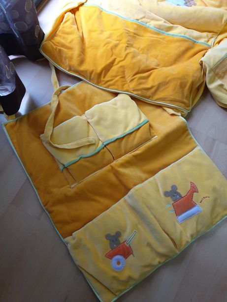 protetores de cama de berço e edredons