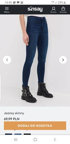 NOWE spodnie sinsay r34 xs s