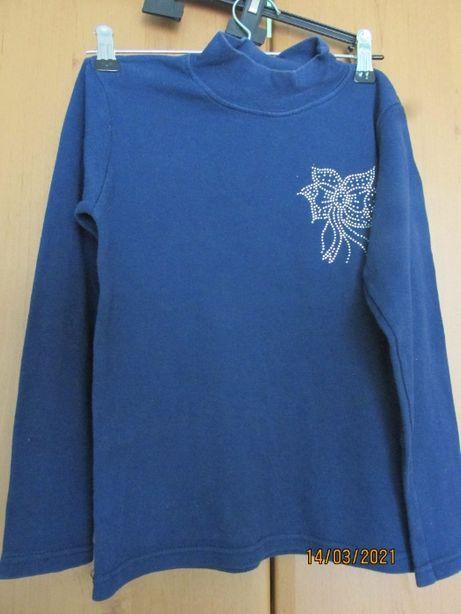 Гольф-водолазка темно-синього кольору для дівчинки
