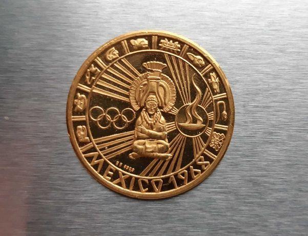Medalha em ouro puro (México) 1968