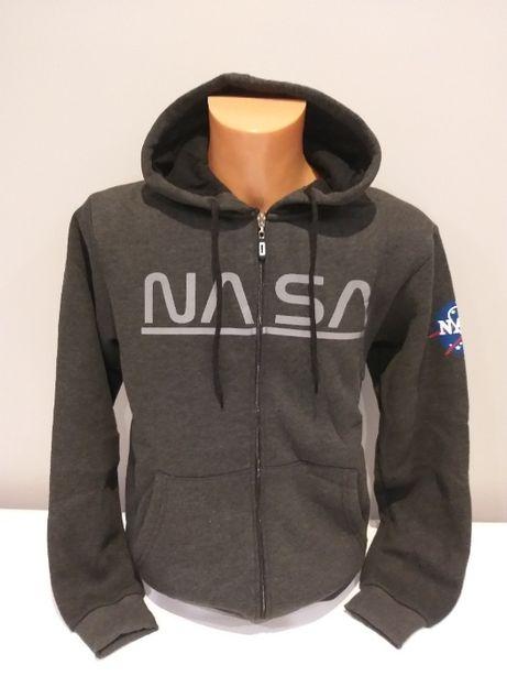 Bluza ciepła z kapturem NASA rozpinana na zamek rozm; M,L,XL,XXL