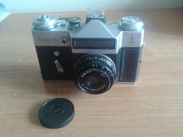 Aparaty fotograficzne-Kodak camera 35, Zenit-E ,Elikon Autofokus