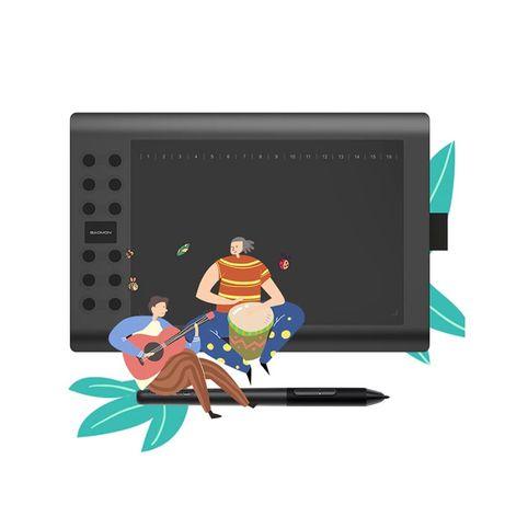 Графический планшет Gaomon M106K PRO 2020: крутое обновление! 7550 руб