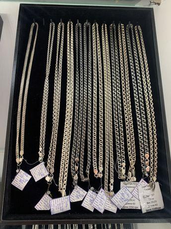 Серебряные цепи 925 пробы ( бирка,пломба. От 120 грн за шт)