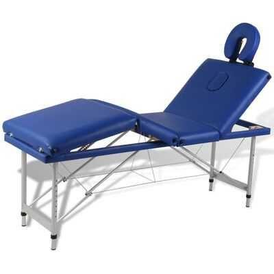 Mesa de massagem, dobrável, 4 zonas, estrutura alumínio *envio grátis*
