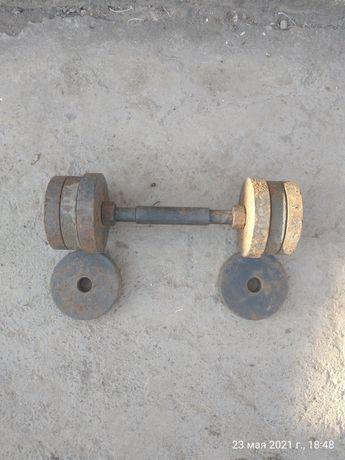 Гантели, общий вес 17 кг