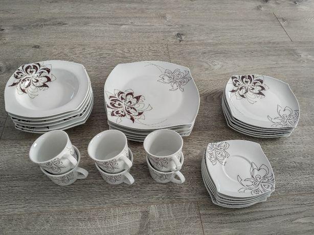 Komplet naczyń Serwis obiadowy ceramiczny 30 elementów