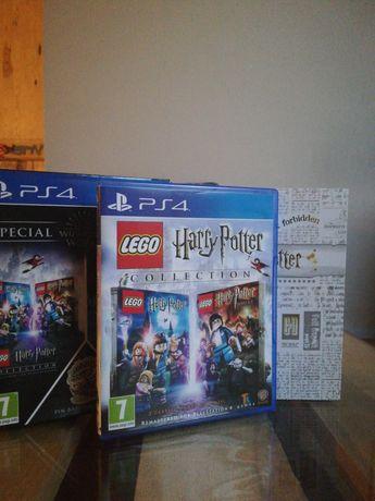 Lego Harry Potter PS4 (wszystkie lata) + gadżety (przypinka, magnes)