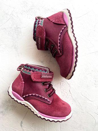 Димесезонные замшевые ботиночки Elefanten