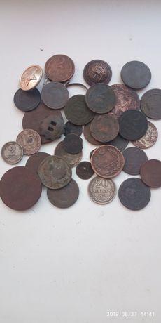 Лот медных монет. Копаные монети.