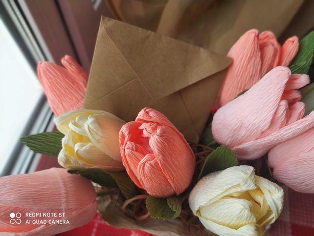 Букет с конфетами тюльпаны