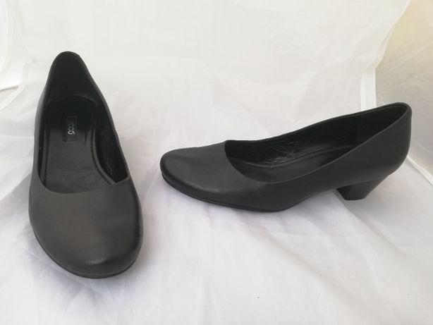 Buty czółenka skórzane Ecco r. 38 , wkł 25,5 cm