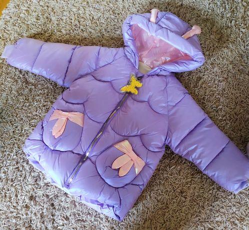 Куртка пуховик для дівчаток