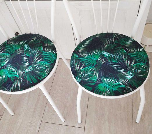 białe krzesło odnowione