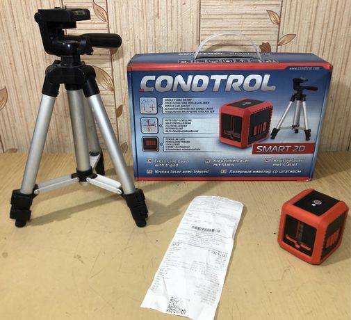 Лазерний нівелір (уровень) → Condtrol Smart 2D зі штативом