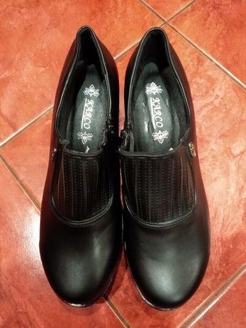 Туфли ЭКО кожа на небольшом каблуке