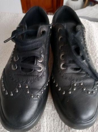 Buty damskie GEOX czarne skórzane rozmiar 38.