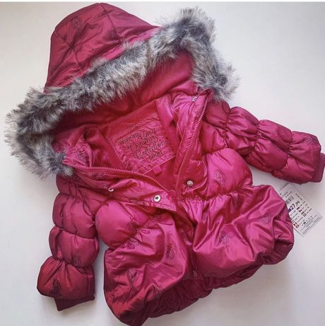 Куртка на флисе демисезонная на девочку красная reserved H&M next zara