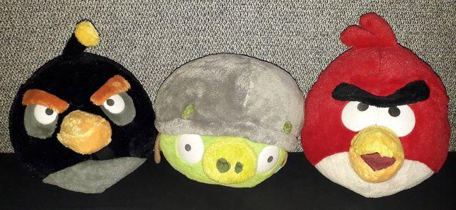 Maskotki pluszaki tanio prezent 3 sztuki angry birds i truskawka