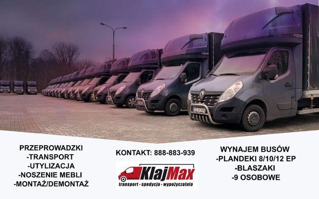 Transport/przeprowadzki/ tragarze / kompleksowo / busy / plandeki