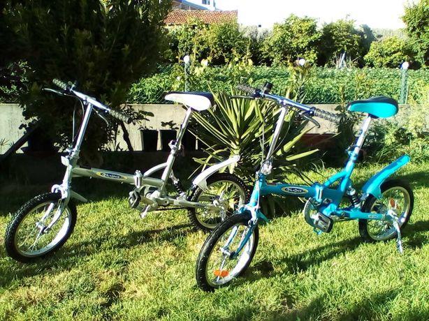 Duas bicicletas dobráveis usadas...último preço!!!