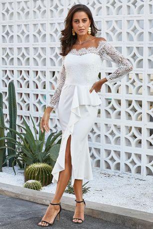 suknia ślubna cywilny wesele poprawiny S 36