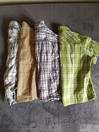 Zestaw 4 koszul na krótki rękaw 110 cm