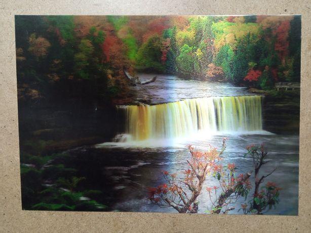 Картина 3 D природа.