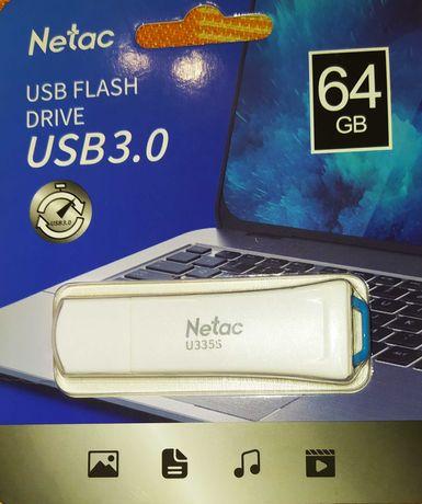 Флешка usb с защитой от записи Netac  64 ГБ USB 3.0