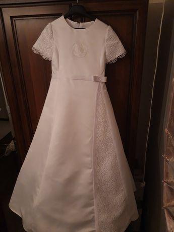 Sukienka komunijna suknia komunia piękna koronka gipiura