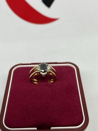 Złoty pierścionek 2W1