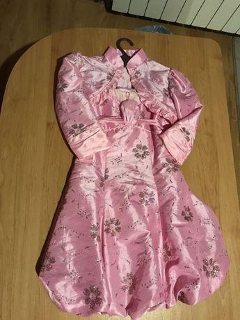 Sukienka różowa dla dziewczynki roz. 128cm