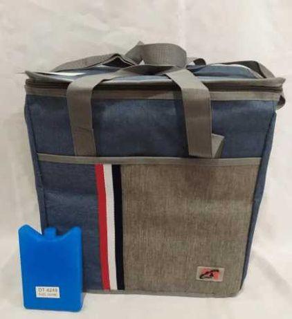 сумка холодильник на 27 л на пикник термосумка синяя туристическая