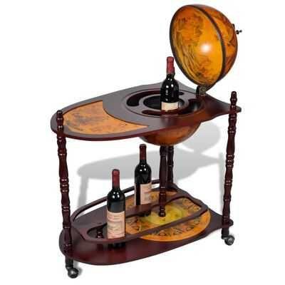 Garrafeira em forma globo madeira para garrafas vinho **envio grátis**