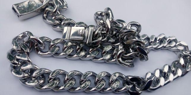 Srebrny łańcuszek,140 gram,pancerka,316l,nowy,złoty łańcuszek,AR,NB,CK