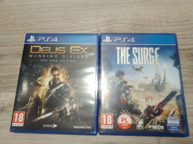 Deus Ex i The Surge na PS4