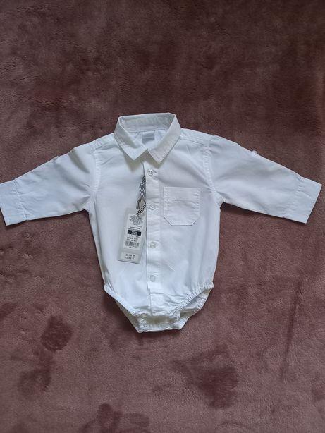 Nowa biała koszula body koszulobody smyk cool club 62