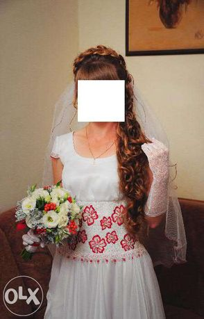 Весільне плаття з вишивкою! Свадебное платье с вышивкой!