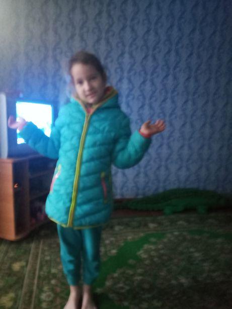 Зимняя куртка для девочки р. 122-134