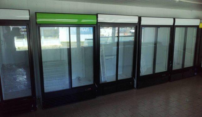 Холодильные шкафы купе. Объем от 650л. до 1550л. Двойные витрины Б/У.