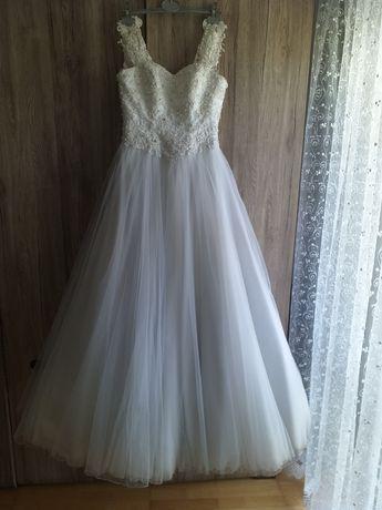 Suknia Ślubna rozmiar 36/38 plus długi welon