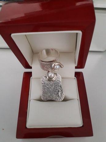 Biżuteria srebrna komplet.